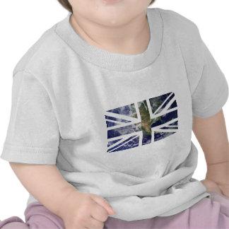 Drapeau d'Union Jack les Anglais (R-U) de la terre T-shirts