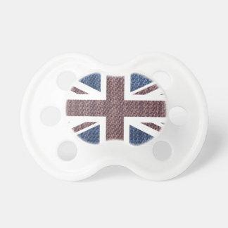 Drapeau d'Union Jack les Anglais (R-U) de motif de Tétines Pour Bébé