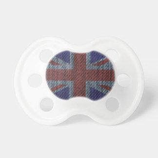 Drapeau d'Union Jack les Anglais (R-U) de motif de Tétine Pour Bébé