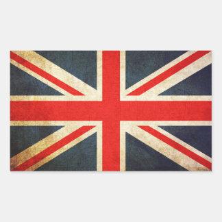 Drapeau d'Union Jack les Anglais Sticker Rectangulaire
