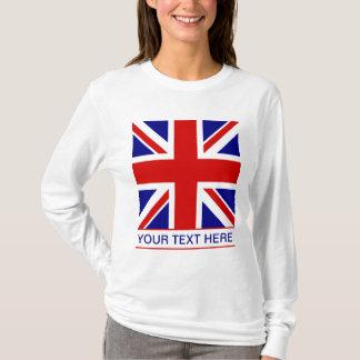 Drapeau d'Union Jack plus votre texte T-shirt