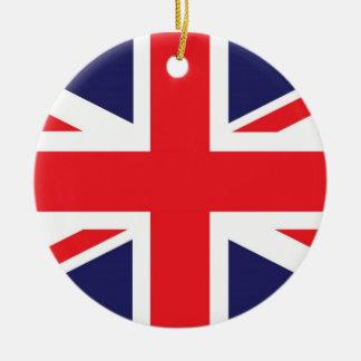 Drapeau d'Union Jack Royaume-Uni Ornement Rond En Céramique