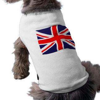 Drapeau d'Union Jack - simple et Personalizable T-shirt Pour Chien
