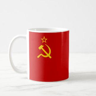 Drapeau d'Union Soviétique Mug Blanc