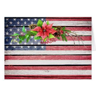 Drapeau en bois américain 1 d'image de cartes de vœux