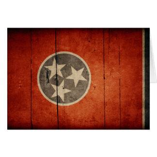Drapeau en bois rocailleux du Tennessee Cartes