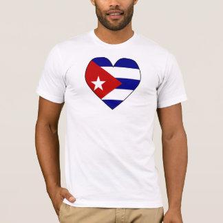 Drapeau en forme de coeur Valentine du Cuba T-shirt
