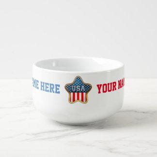 Drapeau en forme d'étoile des USA Mug À Soupe