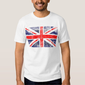 Drapeau Englaterra grunge T-shirt