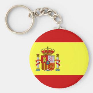 Drapeau espagnol Bandera Española Porte-clé Rond