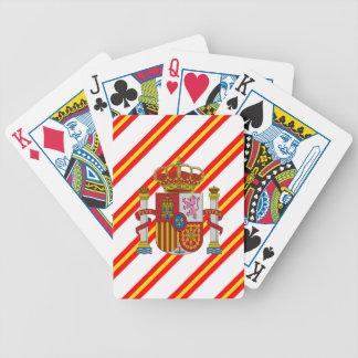 Drapeau espagnol de rayures jeu de cartes