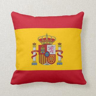 Drapeau espagnol sur le coussin de MoJo d Américai