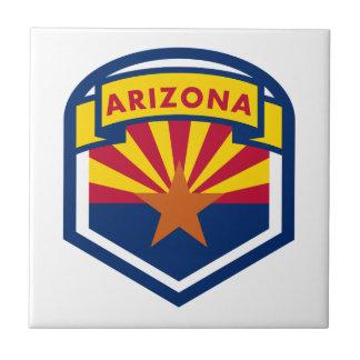 Drapeau et bannière d'état de l'Arizona Petit Carreau Carré