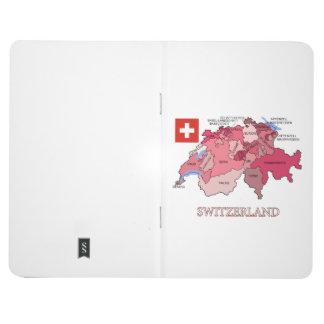 Drapeau et carte de la Suisse Carnet De Poche