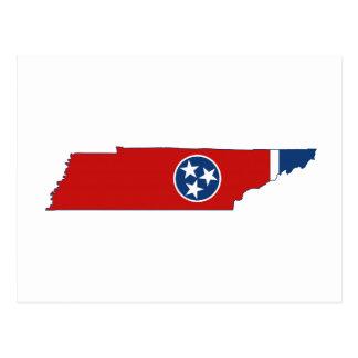 Drapeau et carte d'état du Tennessee