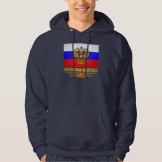 Drapeau et emblème de Fédération de Russie Sweatshirt À Capuche