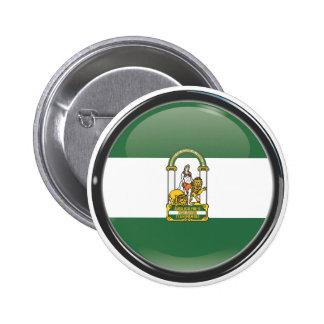 Drapeau et escudo d'Andalousie Badges Avec Agrafe