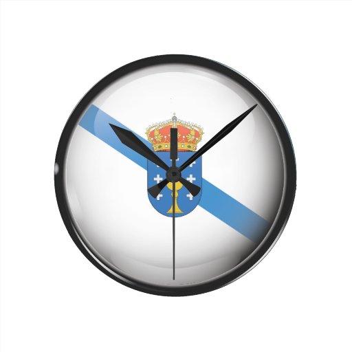 Drapeau et escudo de la Galice Horloges
