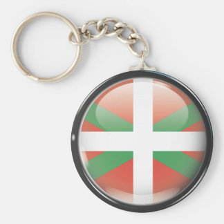 Drapeau et escudo d'Euskadi Porte-clé Rond