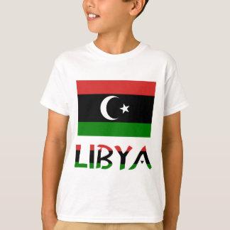 Drapeau et mot de la Libye T-shirt