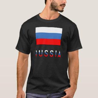 Drapeau et mot de la Russie T-shirt