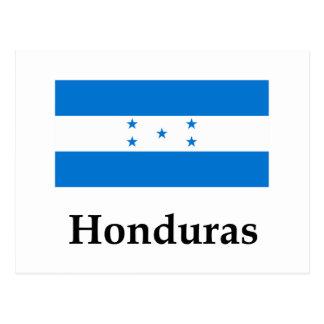 Drapeau et nom du Honduras Carte Postale