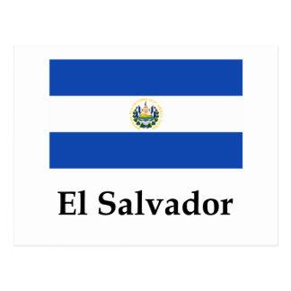 Drapeau et nom du Salvador Carte Postale