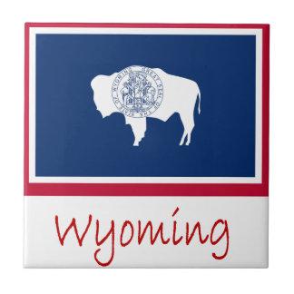 Drapeau et nom du Wyoming Carreau