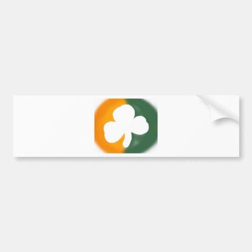 Drapeau et oxalide petite oseille irlandais adhésif pour voiture