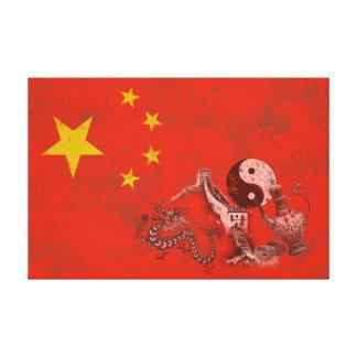 Drapeau et symboles de la Chine ID158 Toile