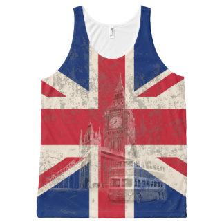 Drapeau et symboles de la Grande-Bretagne ID154 Débardeur Tout-imprimé