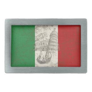 Drapeau et symboles de l'Italie ID157 Boucles De Ceinture Rectangulaires