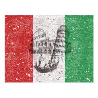 Drapeau et symboles de l'Italie ID157 Carte Postale
