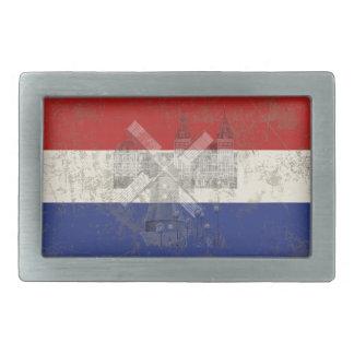 Drapeau et symboles de Pays-Bas ID151 Boucles De Ceinture Rectangulaires