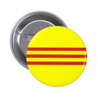 drapeau ethnique du Vietnam du Sud Badge Rond 5 Cm