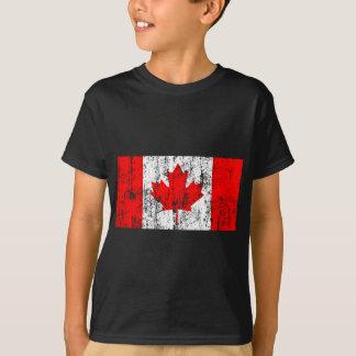 Drapeau fané de T-shirt du Canada