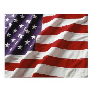 Drapeau fier et patriotique des Etats-Unis Carte Postale