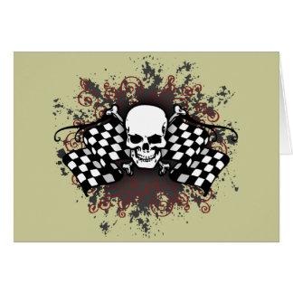 drapeau-floc Crâne-checkered Cartes