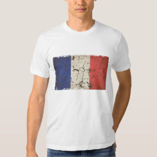 Drapeau français affligé t-shirt