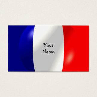 Drapeau français avec le carte de visite de bulle