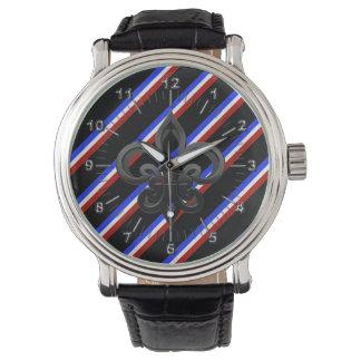 Drapeau français de rayures montres bracelet