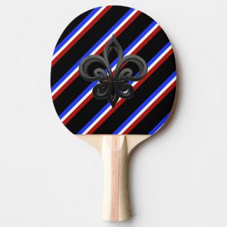 Drapeau français de rayures raquette tennis de table