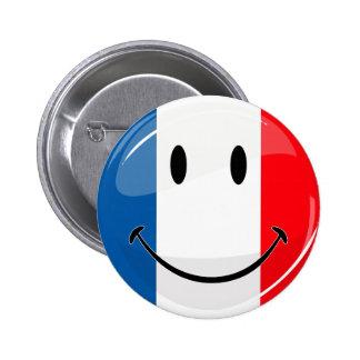 Drapeau français de sourire badge rond 5 cm