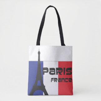 Drapeau français et Tour Eiffel et Paris France Tote Bag