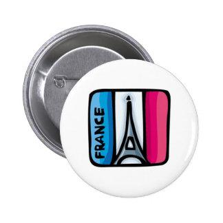 Drapeau français - France Pin's Avec Agrafe