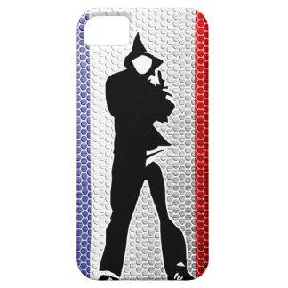 drapeau français / silhouette coque iPhone 5 Case-Mate