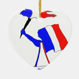 DRAPEAU FRANCE DERNIERS SOUFFLES.png Ornement Cœur En Céramique