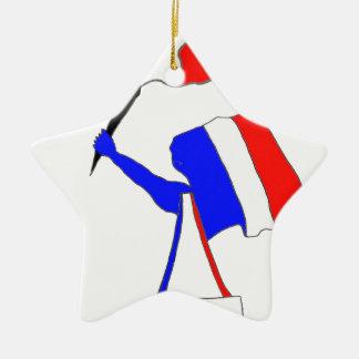 DRAPEAU FRANCE DERNIERS SOUFFLES.png Ornement Étoile En Céramique