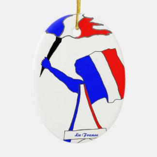 DRAPEAU FRANCE DERNIERS SOUFFLES.png Ornement Ovale En Céramique
