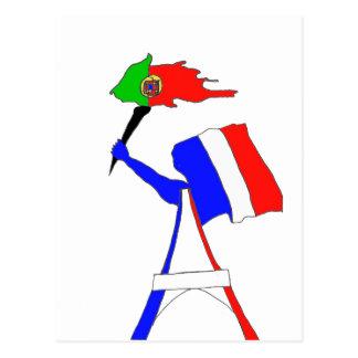 DRAPEAU FRANCE PORTUGAL.png Carte Postale